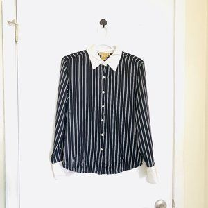 A.J. Christopher VTG Silk Striped Blouse, Size 6